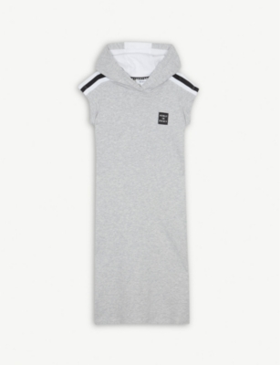 DKNY #ONLYINDKNY cotton-blend hooded dress 6-14 years