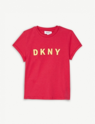 DKNY Logo cotton-blend T-shirt 4-14 years