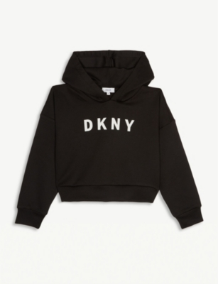 DKNY Logo cropped hoody 4-16 years