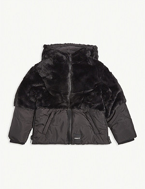 DKNY Faux fur padded jacket 4-16 years