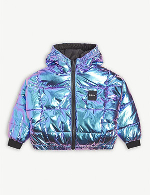 DKNY Reversible shell puffer jacket 4-16 years