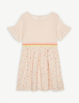BILLIE BLUSH Polka-dot embroidery cotton dress 4-12 years