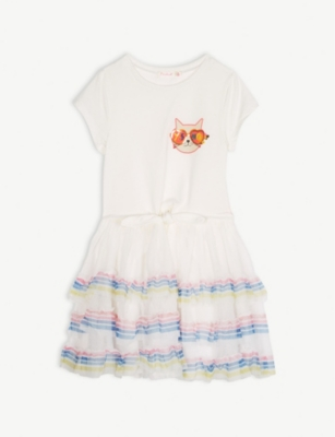 BILLIE BLUSH Cat graphic tutu dress 2-8 years