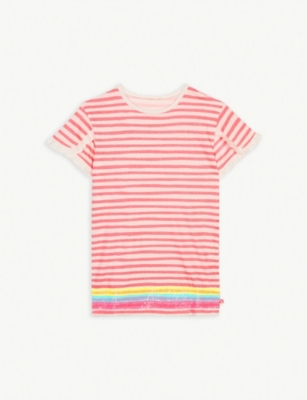 BILLIE BLUSH Stripe print cotton dress 4-8 years