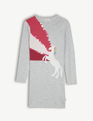 BILLIE BLUSH Unicorn sweatshirt dress 4-12 years