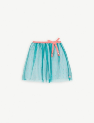 BILLIE BLUSH Pleated mesh skirt 4-12 years
