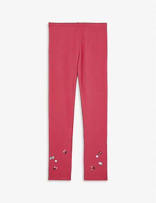 BILLIE BLUSH Sequin cotton-blend leggings 4-12 years