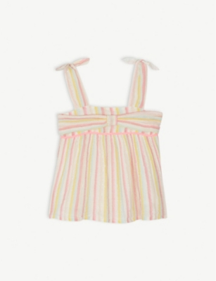 BILLIE BLUSH Striped woven top 4-12 years
