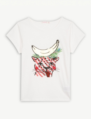 BILLIE BLUSH Banana pompom T-shirt 4-12 years
