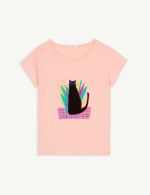 BILLIE BLUSH Cat cotton T-shirt 4-12 years