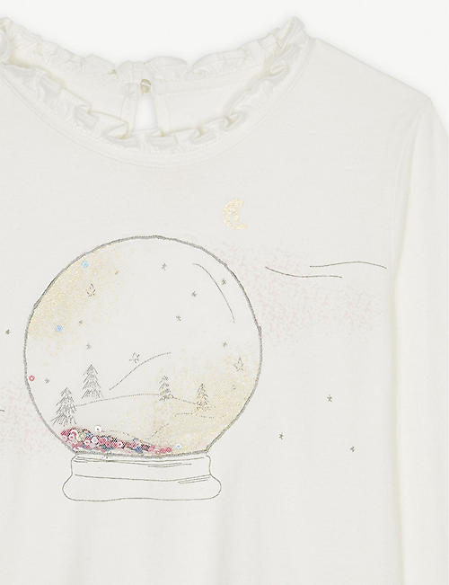 BILLIE BLUSH Snow globe cotton T-shirt 4-12 Years