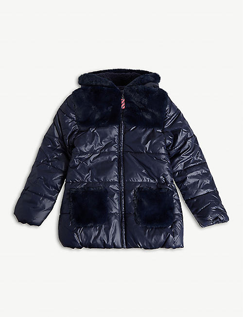 BILLIE BLUSH Faux fur padded puffer coat 4-12 years