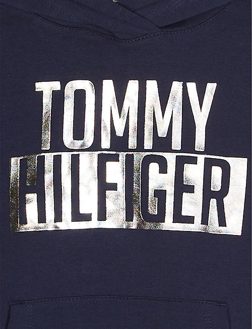 f0787144a TOMMY HILFIGER Foil logo cotton hoody 4-16 years · Quick Shop
