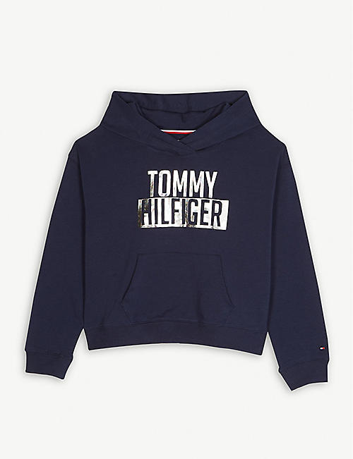 a376f46b8 TOMMY HILFIGER Foil logo cotton hoody 4-16 years