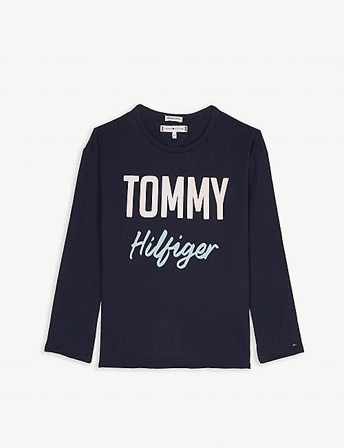 3d0d009b TOMMY HILFIGER Boucle logo cotton T-shirt 4-16 years