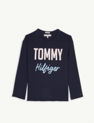 TOMMY HILFIGER Boucle logo cotton T-shirt 4-16 years