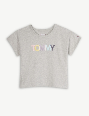 TOMMY HILFIGER Logo cotton T-shirt 4-16 years