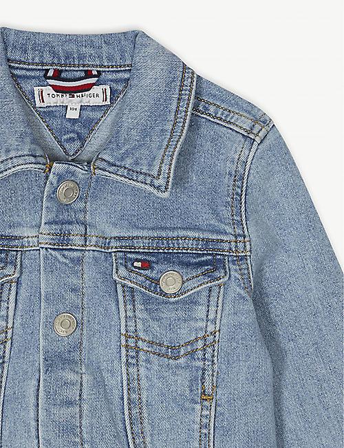 5da1a4b0 TOMMY HILFIGER Embroidered logo denim trucker jacket 4-16 years