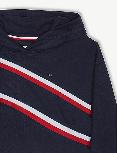 6fa2f046569 TOMMY HILFIGER Logo stripe cotton hoody 4-16 years