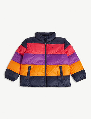 TOMMY HILFIGER Reversible striped puffer jacket 4-16 years