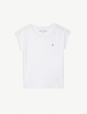 TOMMY HILFIGER Brand lace cotton T-shirt 1.5-14 years