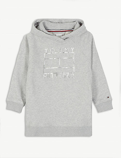 TOMMY HILFIGER: Cotton-blend hooded sweatshirt 4-16 years
