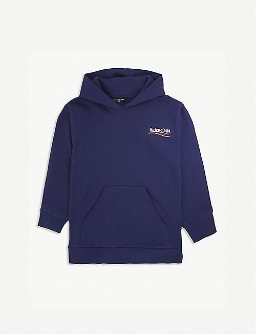 48c7950147e3 BALENCIAGA Molleton logo cotton-blend hoody 2-10 years