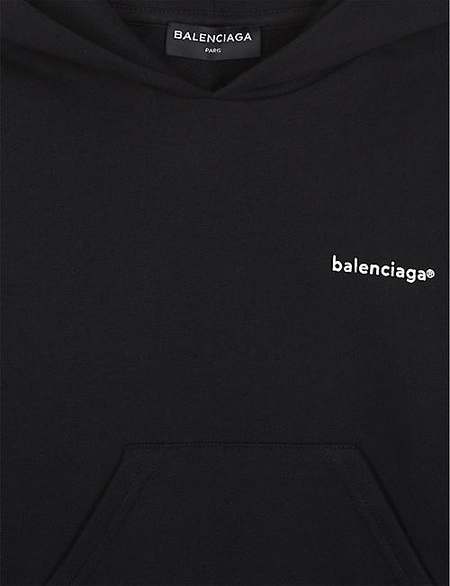 b04c9fe4 BALENCIAGA Logo cotton-blend hoody 4-10 years
