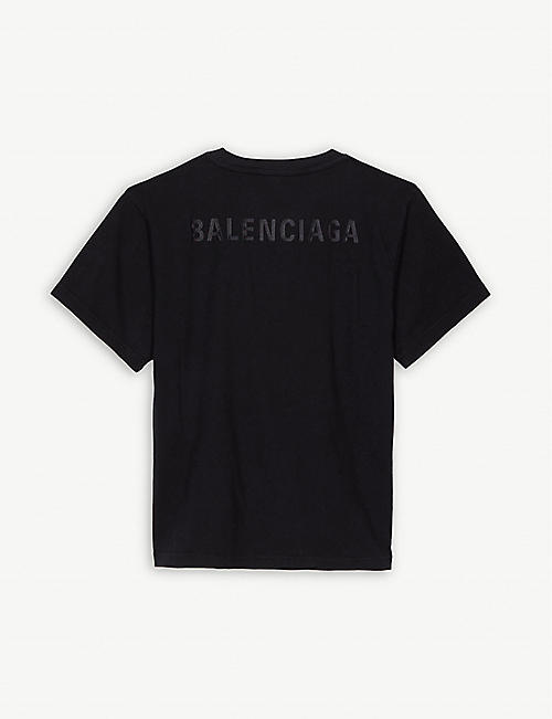 BALENCIAGA Tonal logo cotton T-shirt 4-10 years