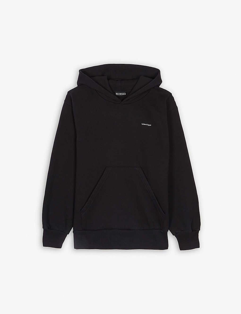 Balenciaga Tops Logo cotton-blend hoody 4-10 years