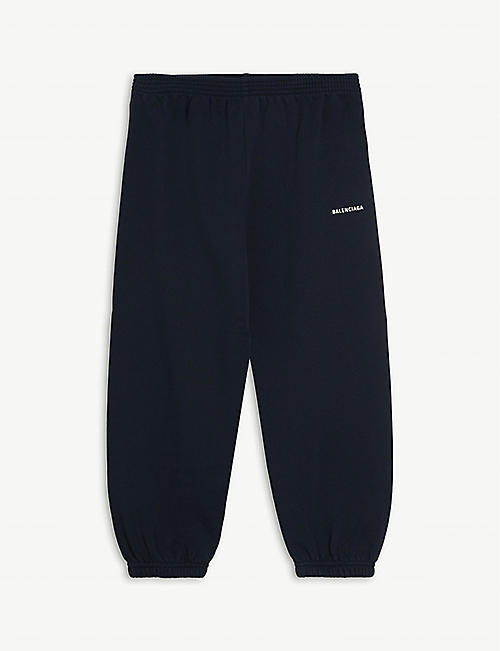 BALENCIAGA: Logo-print cuffed cotton jogging bottoms 4-10 years