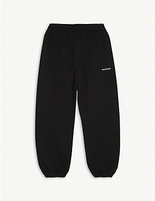 BALENCIAGA: Logo-printed cotton tracksuit bottoms 4-10 years