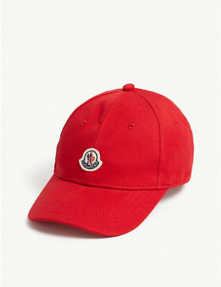 MONCLER: Cotton baseball cap 8-16 years