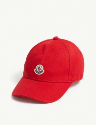 MONCLER Cotton baseball cap 8-16 years