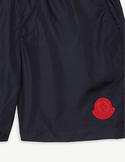 MONCLER Appliqué logo swim shorts 4-14 years