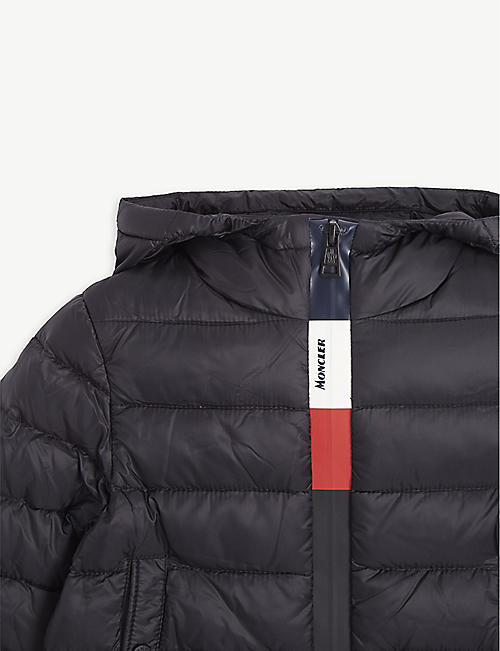 MONCLER Stripe zip down padded coat 2-16 years