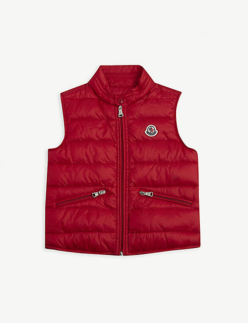 MONCLER Padded down gilet 2-16 years
