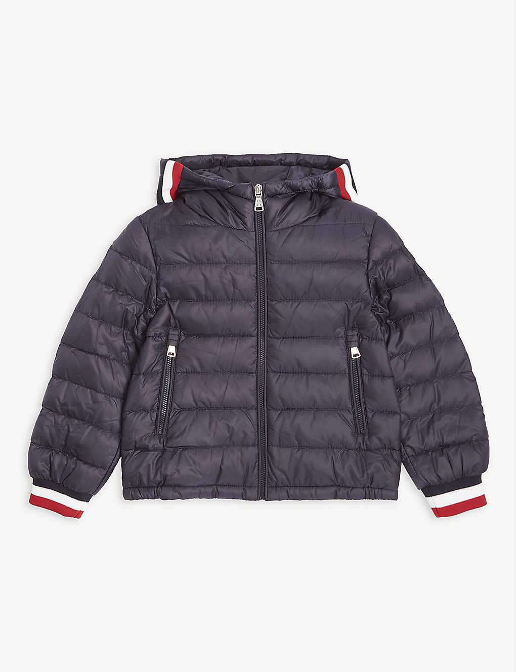 MONCLER: Giroux down hooded jacket 4-14 years