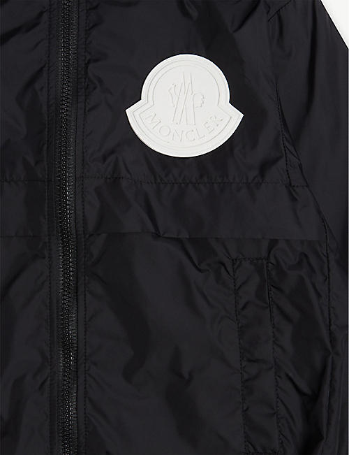 MONCLER Logo hooded rain jacket 4-14 years