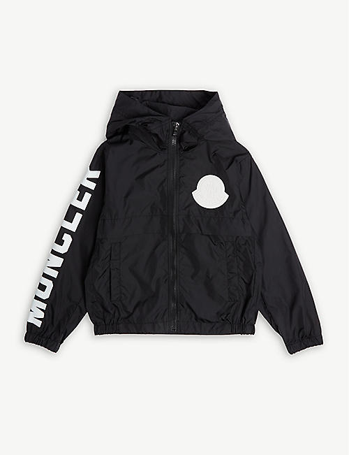 MONCLER Logo hooded rain jacket 4-14 years fe7ccfa7cac