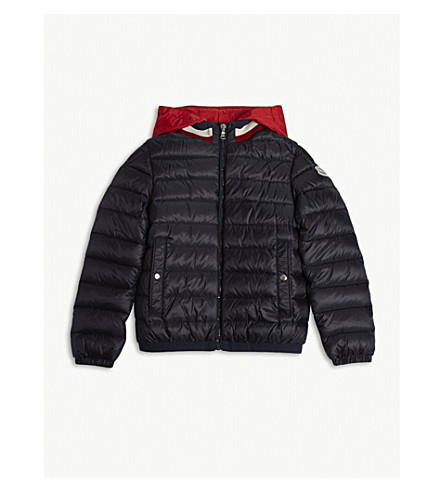 109931d4f3b8 MONCLER Rouen quilted down jacket 4-14 years (Navy
