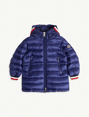 MONCLER Rouss padded long coat 4-14 years