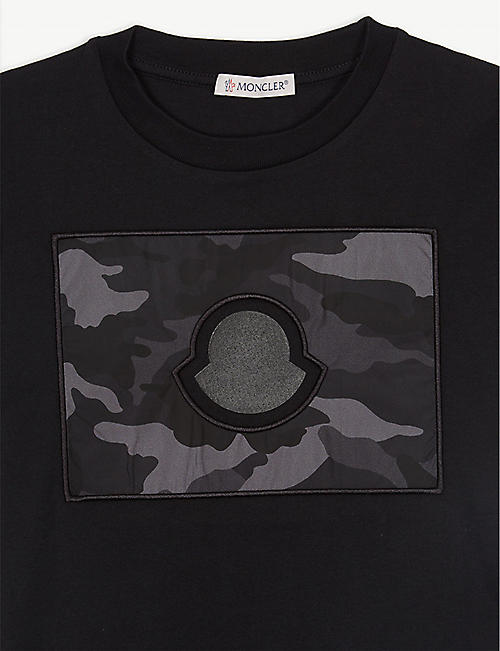 MONCLER Maglia camouflage cotton T-shirt 4-14 years