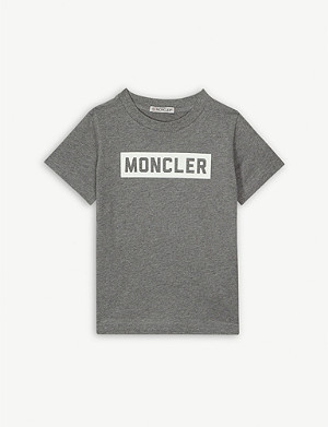 MONCLER Logo print cotton T-shirt 8-10 years