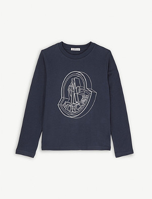 MONCLER Blueprint logo cotton T-shirt 4-14 years