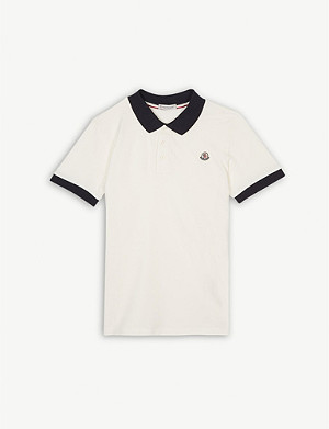MONCLER Contrast polo shirt 4-14 years