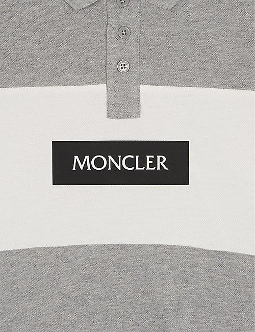 MONCLER Logo cotton polo shirt 4-14 years