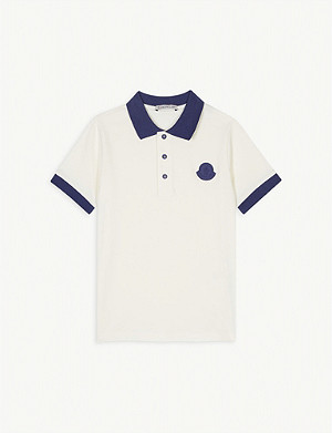 MONCLER Logo cotton polo 4-14 years