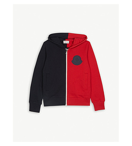 27896420f MONCLER - Colour block zipped hoody 4-14 years
