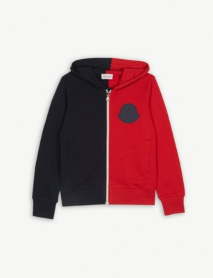MONCLER Colour block zipped hoody 4-14 years